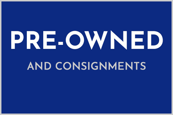 pre-owned and consignments